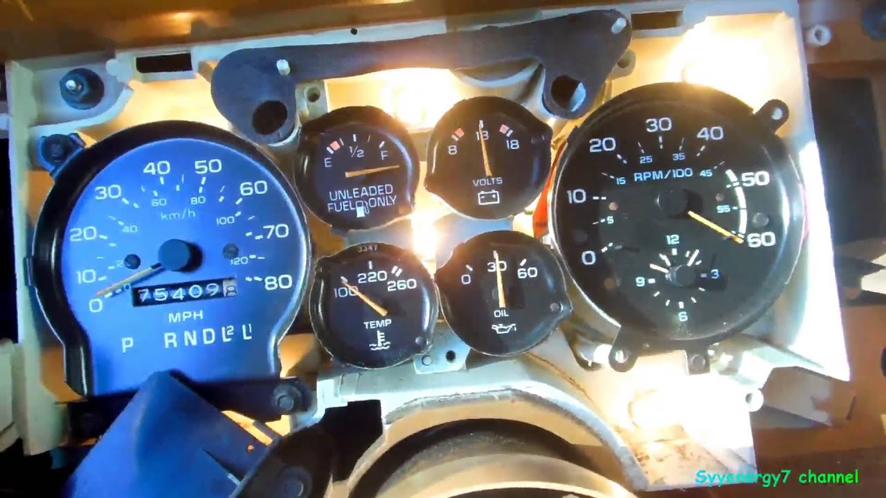 medium resolution of  78 87 el camino install stock gauges dash lights fix tach