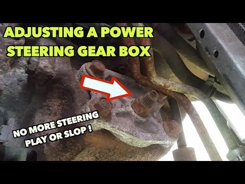 Power Steering Gear Box: Play/Steering Slop: How To Adjust It.