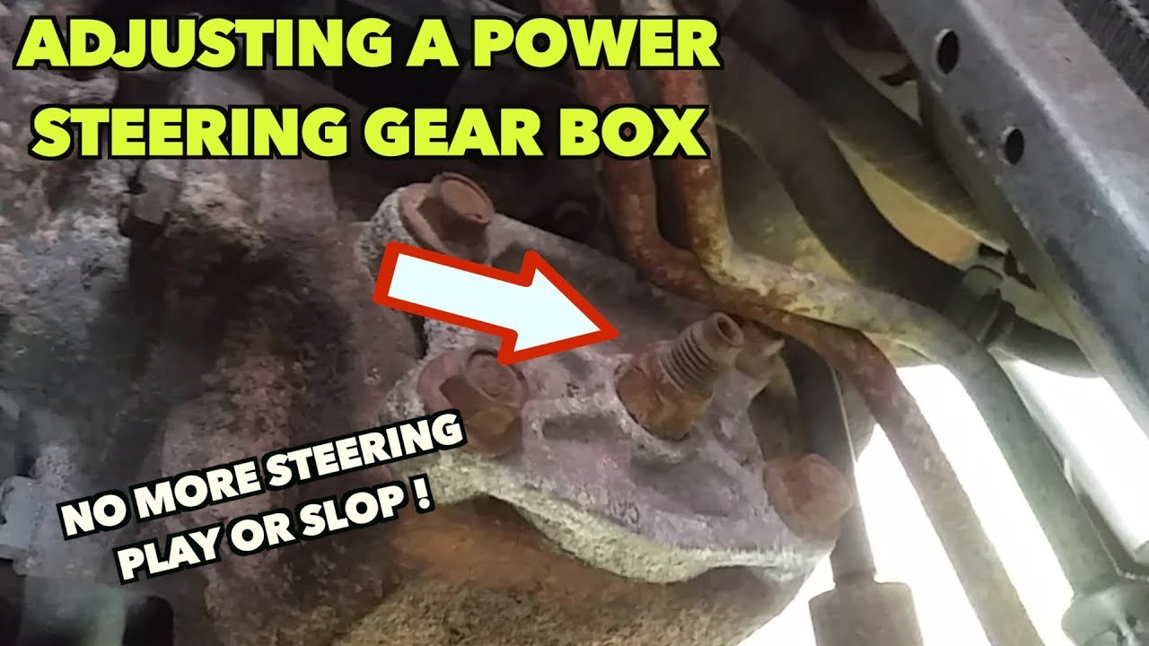 Power Steering Gear Box Play Slop How To Adjust It Youtube 20100705200450fordbendixpowersteeringdiagramjpg