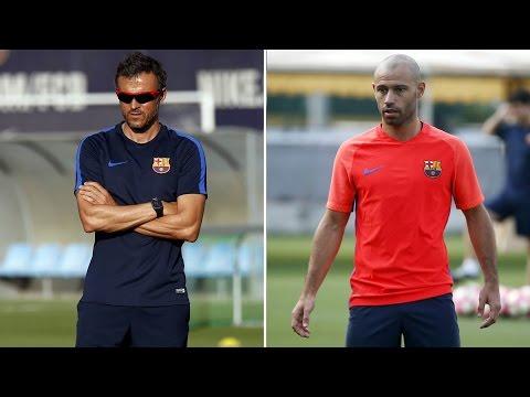 Ruedas de prensa íntegras de Luis Enrique y Javier Mascherano