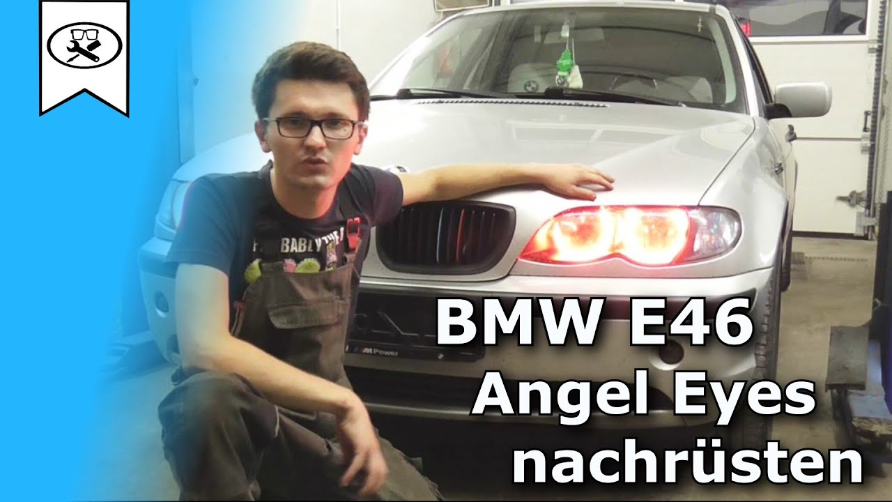 bmw e46 angel eyes mit funkfernbedienung nachr sten how. Black Bedroom Furniture Sets. Home Design Ideas