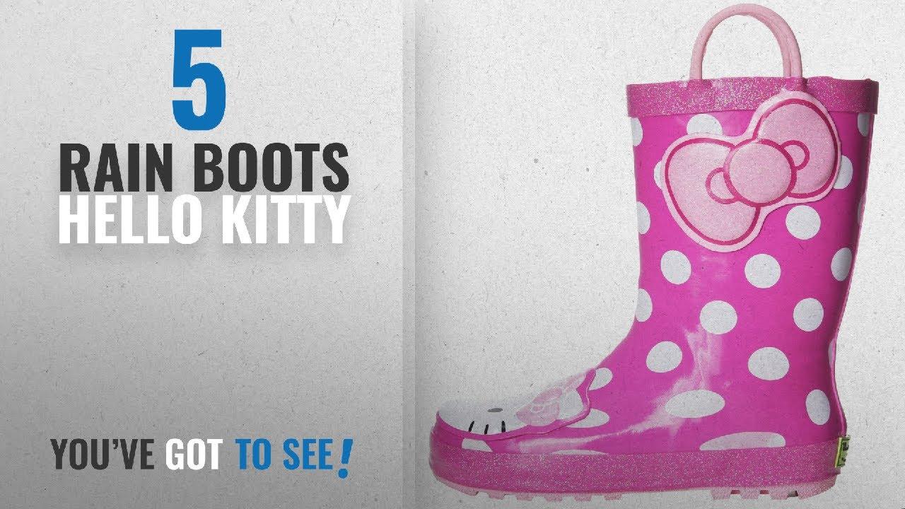 db551d429 Top 5 Rain Boots Hello Kitty [2018]: Western Chief Girls Hello Kitty  Waterproof Character Rain. Women's Shoes ...