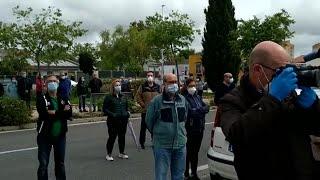 Dos minutos de silencio en el centro de salud de Cáceres en el que ejercía el médico fallecido