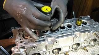 видео Притирка клапанов головки блока цилиндров двигателя автомобиля