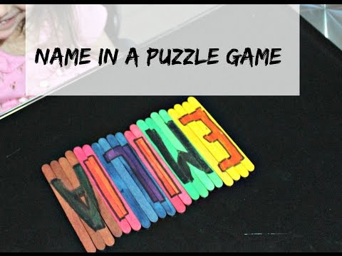 Name Puzzle DIY