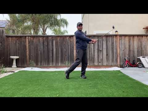 Narrower Golf Swing Stance and Wider Right Arm Takeaway