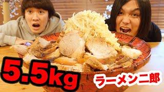【大食い】ラーメン二郎(爆盛り)5.5kgがマジでとんでもなかった!!!