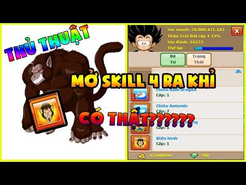 Ngọc Rồng Online - Tạo Ra Thủ Thuật Mở Skill 4 Đệ Tử Ra Biến Khỉ