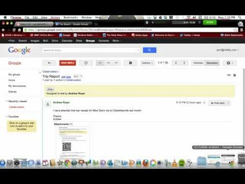 Google Groups Collaborative Inbox Demo