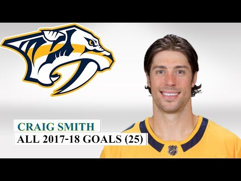 Craig Smith (#15) All 25 Goals of the 2017-18 NHL Season