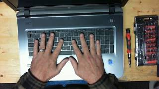 HP 17-g121wm laptop disassembly, take apart, teardown tutorial