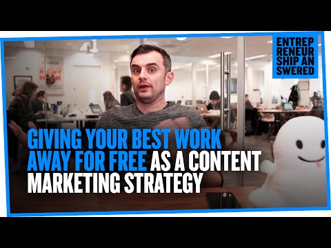 Giving Your Best Work Away for Free as a Content Marketing Strategy