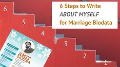 6 Steps to Write About Myself for Matrimonial Biodata