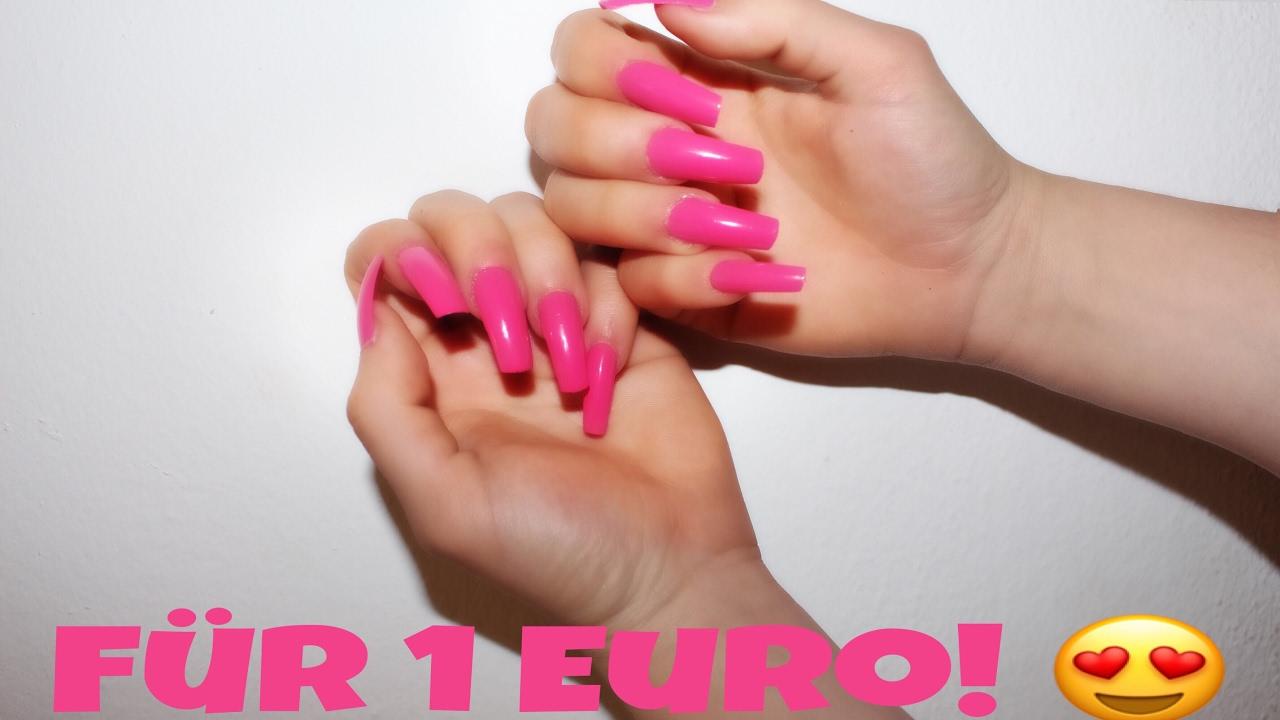Perfekte Nägel für 1€! - PERFEKT für den Frühling/Sommer- DIY! - YouTube