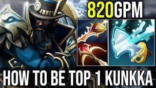 This is How Top 1 [Kunkka] Plays 820GPM 22Kills By Attacker 7.18 | Dota 2 FullGame