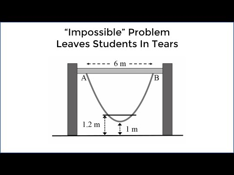'Impossible' Math Problem Leaves 15 Year Olds In Tears - New Zealand (Parabola Question)