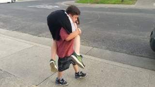 Fireman carry.