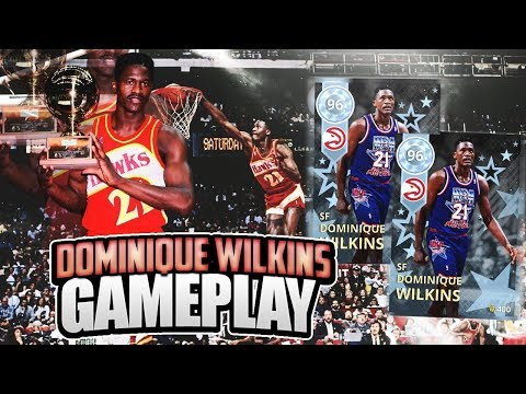 DIAMOND DOMINIQUE WILKINS GAMEPLAY! INSANE CONTACT DUNKS! BEST DUNKER IN THE GAME! NBA 2K18 MYTEAM