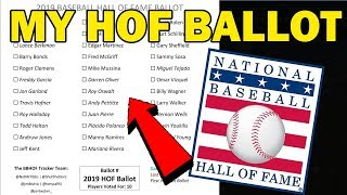 MY 2019 BASEBALL HALL OF FAME BALLOT