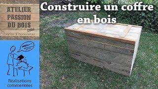 comment faire un coffre en bois de palette