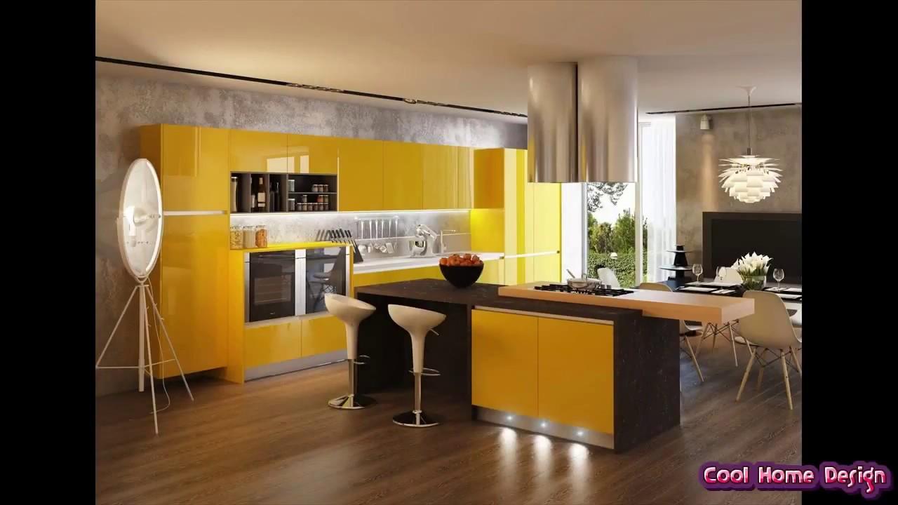 Yellow Black And White Kitchen Youtube