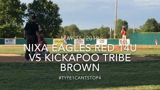 Nixa Eagles Red 14U vs Kickapoo Tribe Brown May 15, 2019