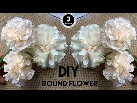 How To Make Round Foam Flower - DIY Foam Craft. МК декоративные круглые цветы из фоамирана.