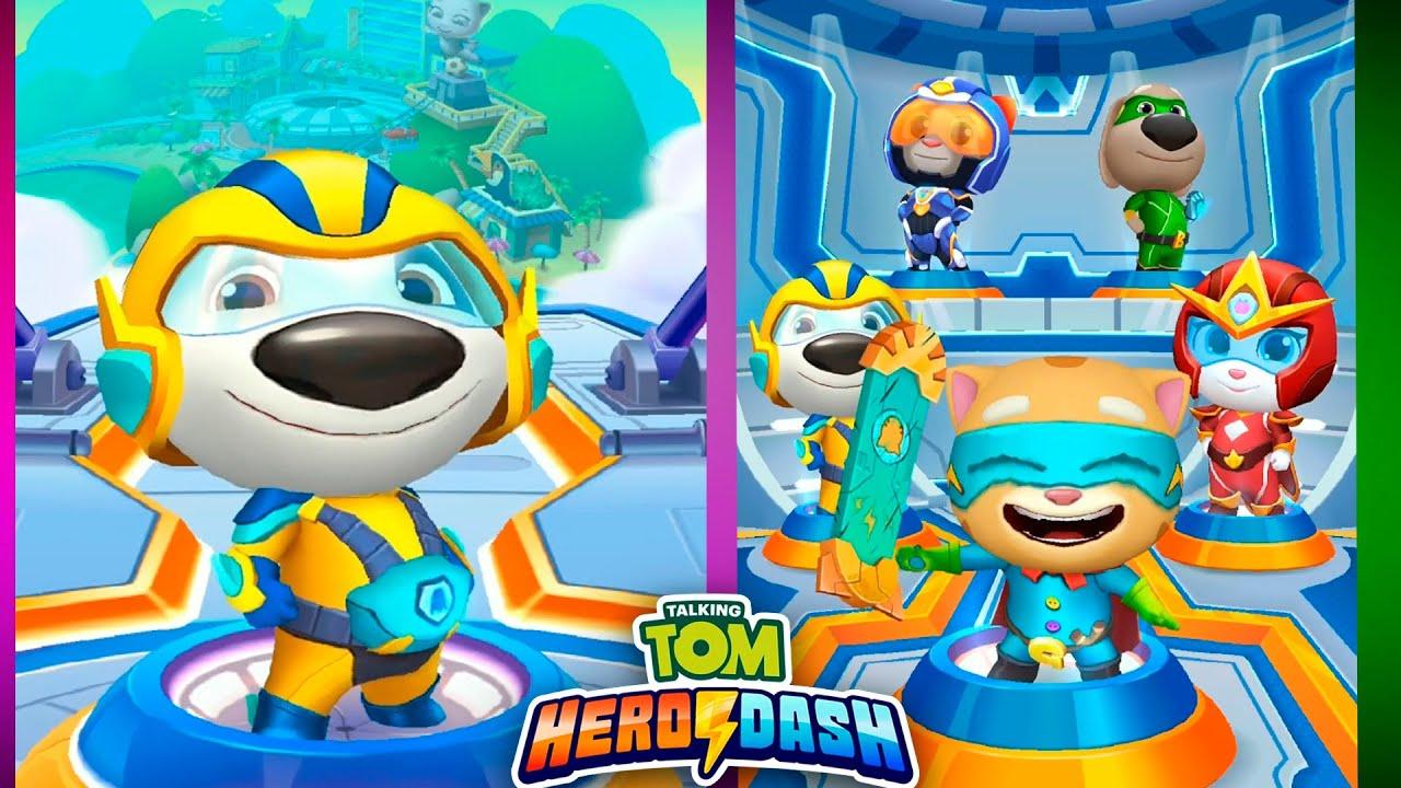 Talking Tom Hero Dash - Mega Ginger, Hank - Gameplay (Android, iOS)