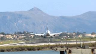 Corfu, Greece. Kapodistrias Airport | Аэропорт Корфу, Греция.(Some footage of airplanes arriving to the Corfu airport. Nice view from the dam which is right in front of the airstrip., 2014-08-03T16:42:53.000Z)