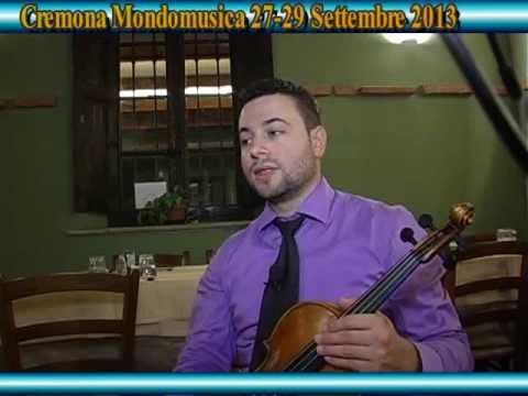 Cremona Mondomusica 27-29 Shtator 2013 interviste me Erli Gurra Liutaio