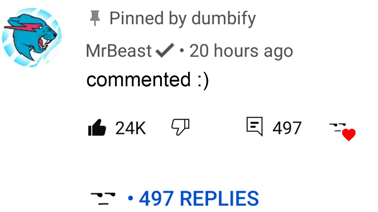 mrbeast will not comment on this video