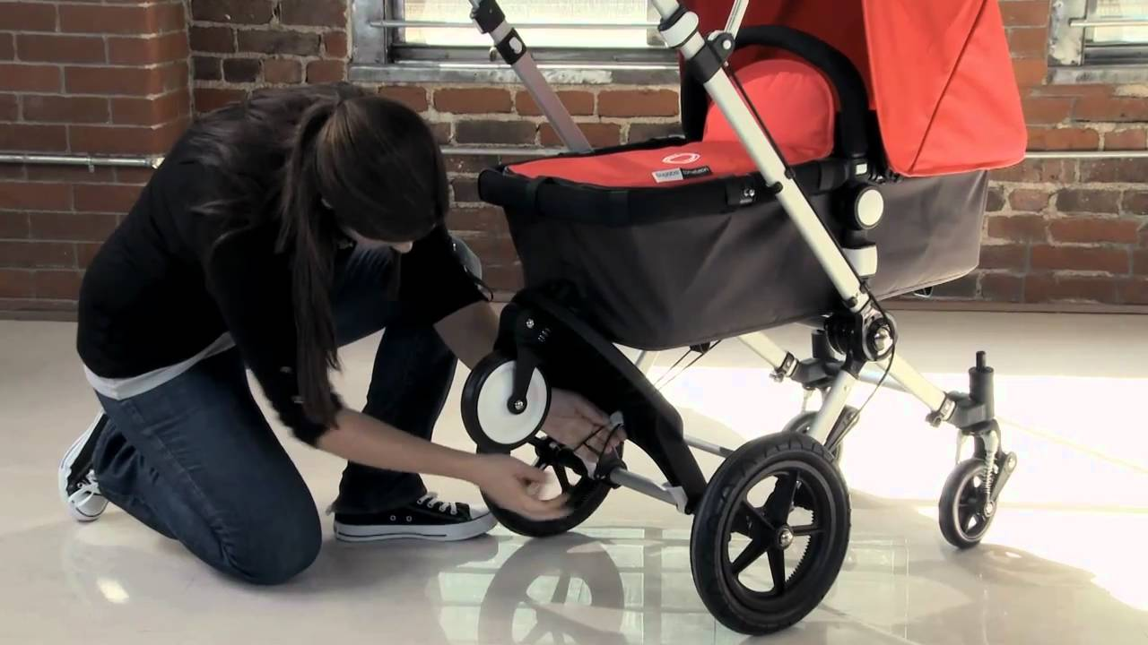 Bugaboo Cameleon 3 Regenschutz Anbringen Bugaboo Cameleon Demo Stroll With Two Wheeled Board
