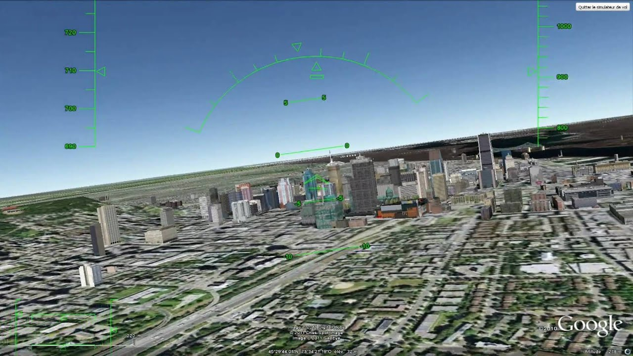 buzzing skyscrapers in montr al google earth flight. Black Bedroom Furniture Sets. Home Design Ideas