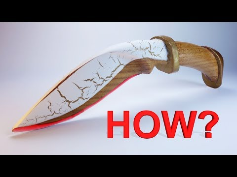 "How to do it?  Magic Knives ""Elven Blade"" (Epoxy Resin and Wood) 