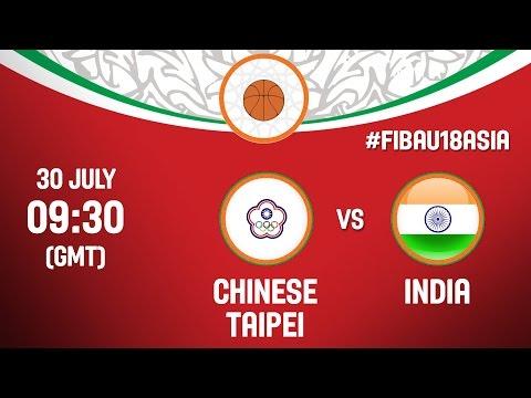 Chinese Taipei v India - Live - CL 5-8 - 2016 FIBA Asia U18 Championship