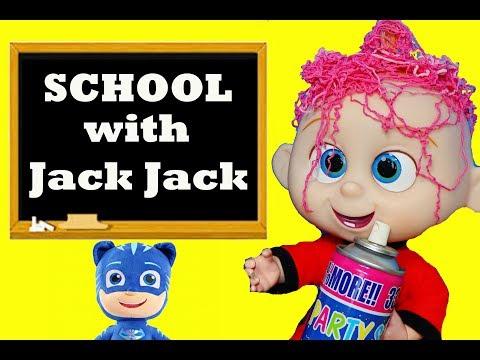 Incredibles 2 Jack Jack & PJ Masks Catboy School Learn To Spell