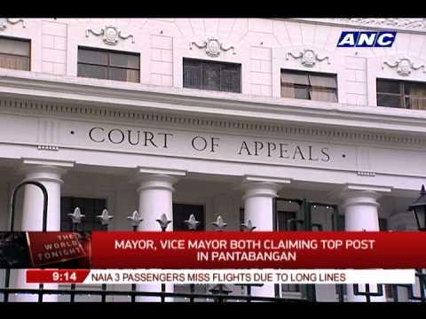 Mayor, vice mayor claim top post in Pantabangan