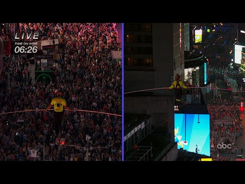 Lewis & Logan - Wallendas Cross Times Square on High Wire