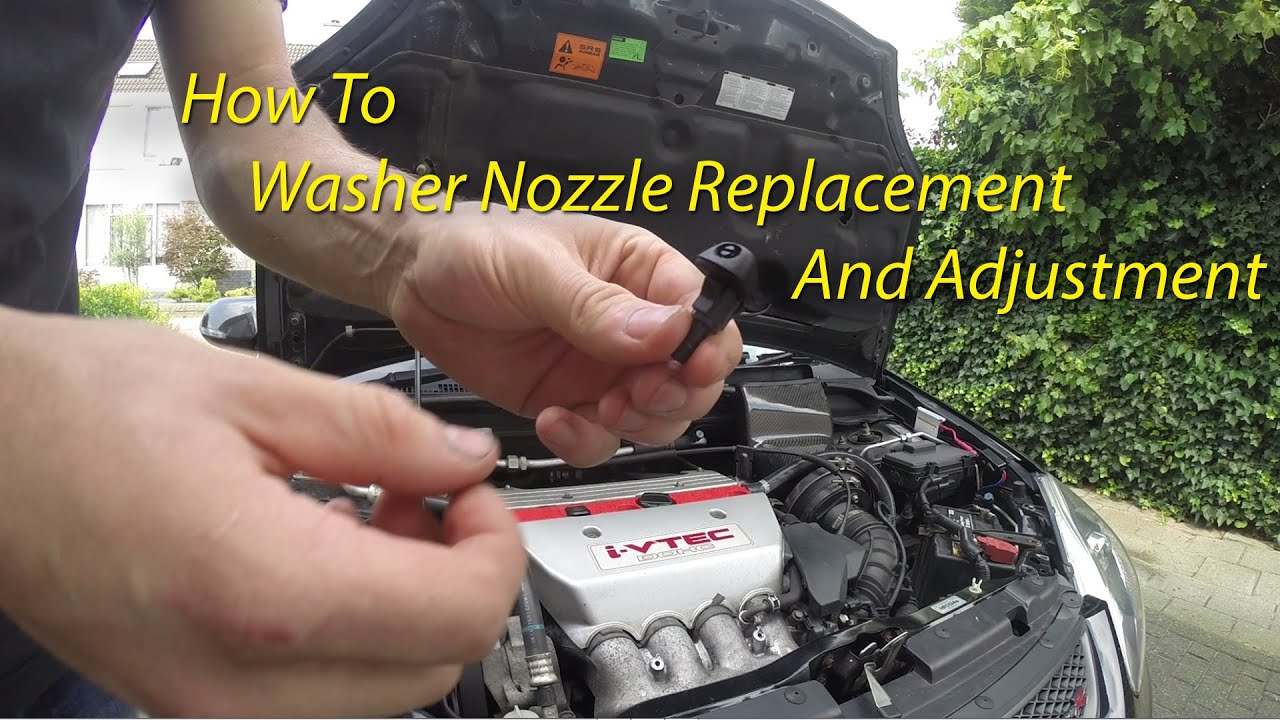 Windshield Washer Nozzle Replacement   Adjustment - YouTube 23ca6358744