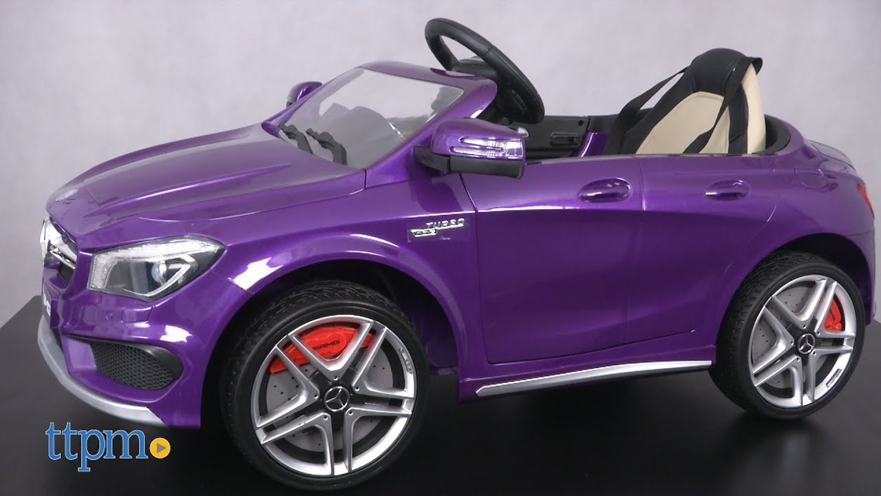 Mercedes Benz Cla45 Battery Operated R C Ride On Car From Moderno Kids