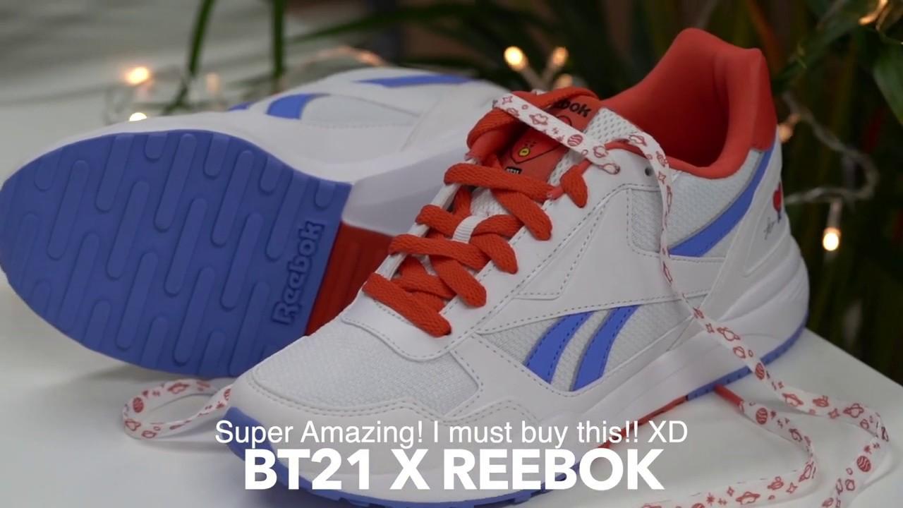 3ceff35ad91 9th Giveaway BT21 x Reebok Tata Royal Bridge 2.0 bts sneakers - YouTube