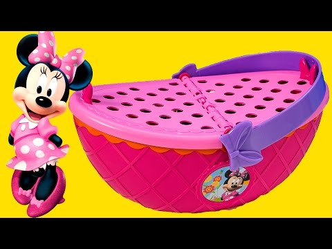 Thumbnail: Minnie Mouse Picnic Basket Minnie Mouse Bowtique Toys Disney Mickey Mouse Clubhouse