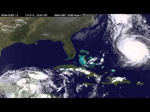 Hurricane Gonzalo Hits Bermuda - Satellite View | Video