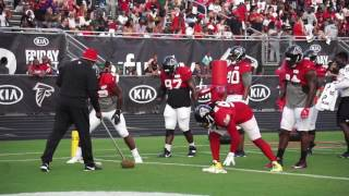 Atlanta Falcons DLine Working