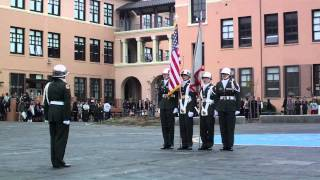 (entrant 4) Lincoln High School in Guidon Bearer Competition