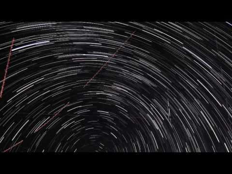 Ночное звездное небо ускоренная съемка