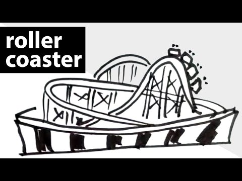 How to draw a roller-coaster ? drawing, sketch, art ...