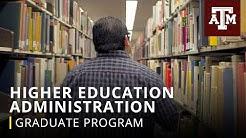 Graduate Program: Higher Education Administration
