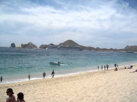 Cabo San Lucas Riu Santa Fe 360 Degree Panoramic From Beach