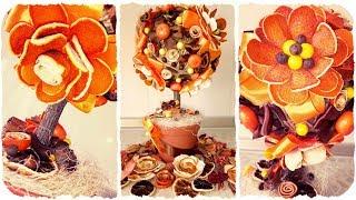 Топиарий с цветами из апельсина — мастер-класс от Алены Тихоновой